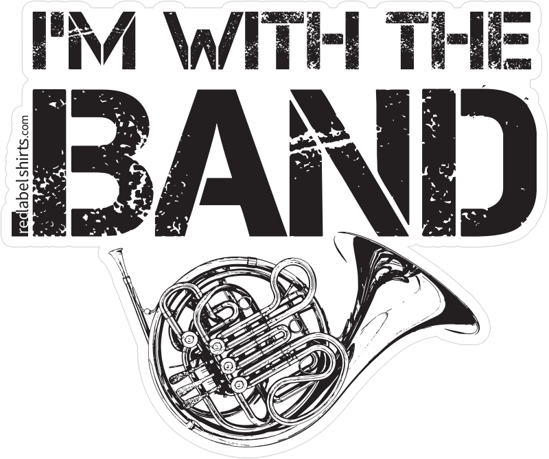 Buy im with the band french horn stickers